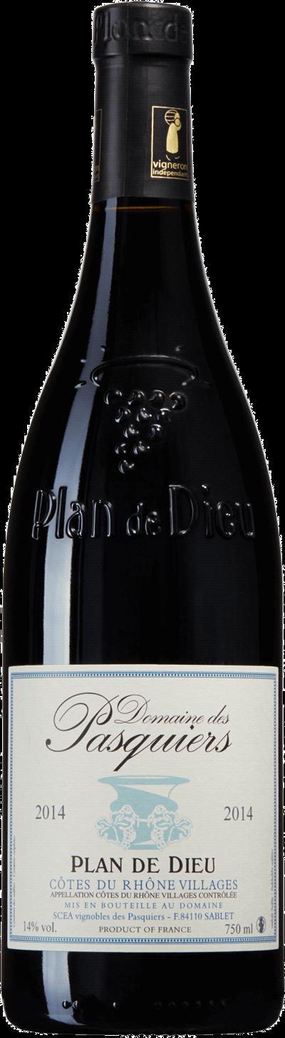 Produktbild för Domaine des Pasquiers Plan de Dieu, 2019