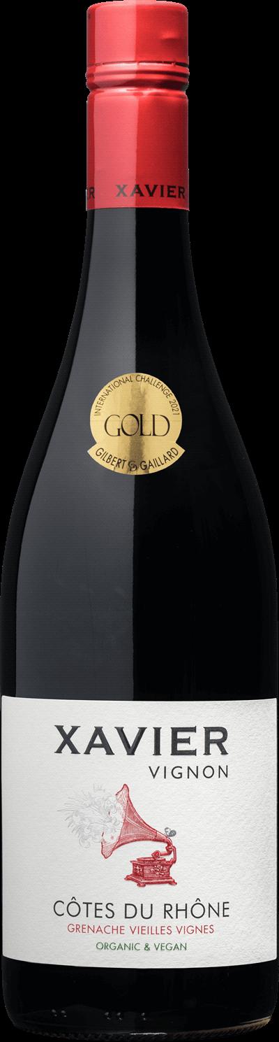 Produktbild för Xavier Vignon Côtes-du-Rhône Grenache Vieilles Vignes Organic, 2019