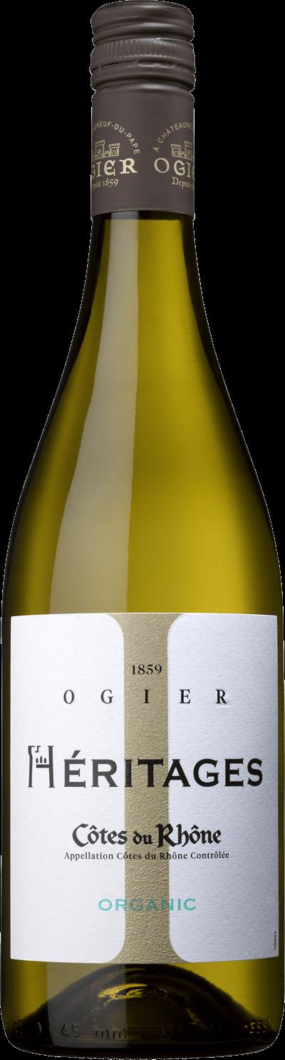 Produktbild för Héritages Côtes du Rhône Blanc Ogier, 2019